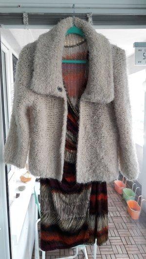 Kleid und Weste in braun/beige und Rottönen Gr.40
