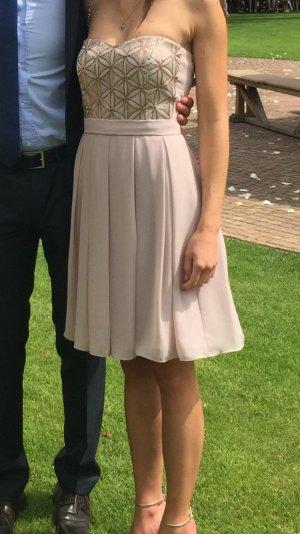 Vera Mont Off-The-Shoulder Dress rose-gold-coloured polyester