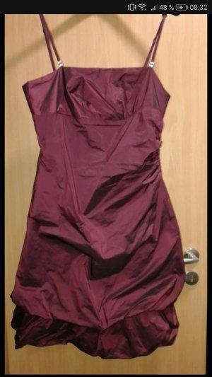 Kleid Vera Mont weinrot schimmernd knielang