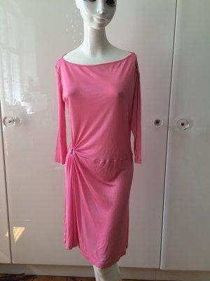 Kleid VERSACE Versus Gr. 38/40 rosa/pink mit 2 raffinierten LochRaffungen