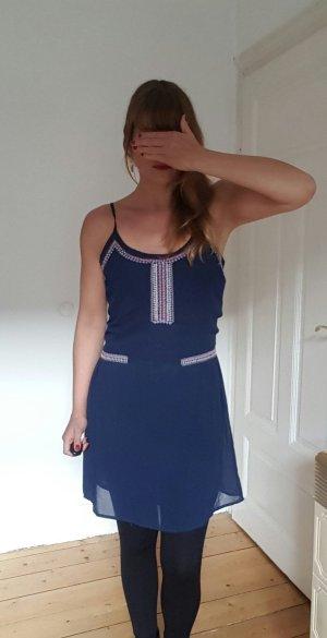Kleid Vila XS S Perlen Stickerei Sommer Boho