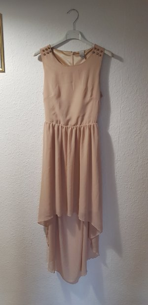 Vila High Low Dress pink