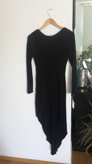 Kleid Vokuhila Rückenausschnitt Schleppe