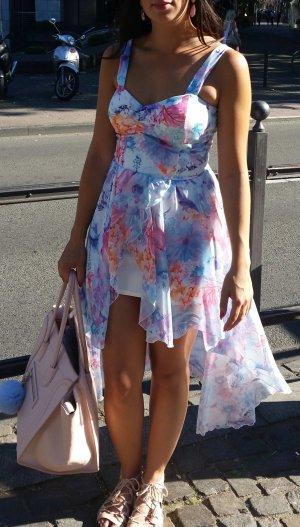 Kleid Vokuhila S Dress Maxikleid Rosen Blumen hipster blogger boho hippie
