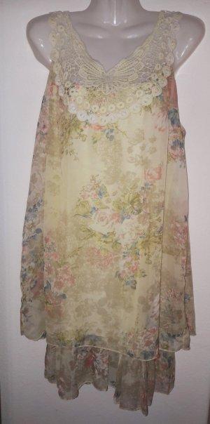 Babydoll-jurk veelkleurig Gemengd weefsel