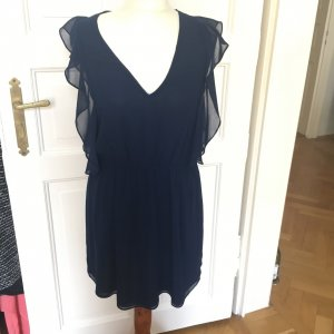 Zara Flounce Dress dark blue-blue
