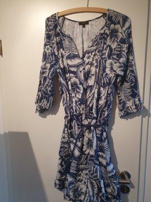 1.2.3 Paris Robe à manches longues blanc-bleu acier