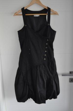 3 Suisses Vestido negro-blanco Algodón