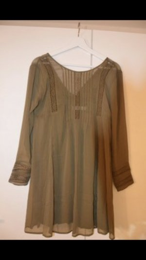 Abercrombie & Fitch Blouse Dress olive green