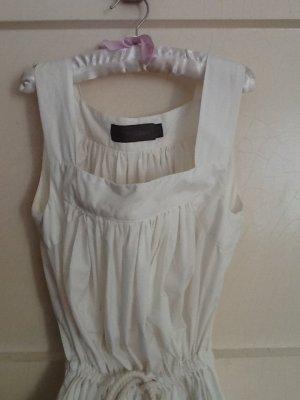 Acne Jeans Midi-jurk wit Gemengd weefsel
