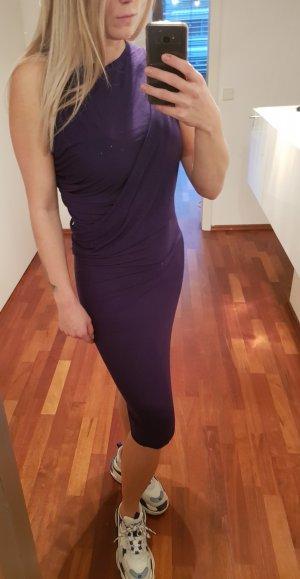 Acne Vestido de tela de jersey violeta oscuro