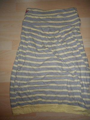 Kleid von alife and kickin, Größe S, gestreift, grau/gelb, 2 Taschen, Knielänge