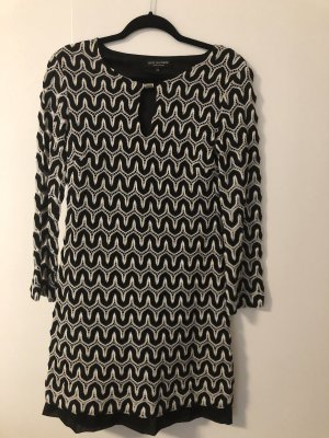 Ana Alcazar Knitted Dress black-white