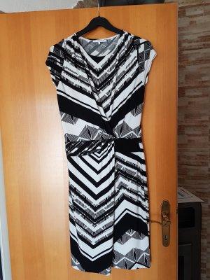 Anna Field Stretch jurk wit-zwart