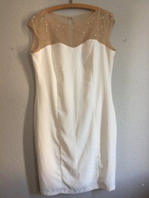 Apart  glamour Vestido blanco-crema