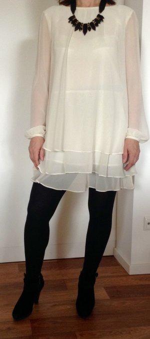 Asos Petite Vestido de manga larga blanco Poliéster