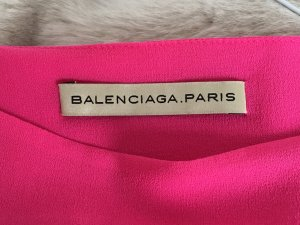 Balenciaga Dress neon pink silk
