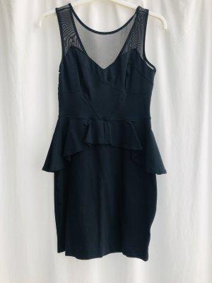 bebe Peplum Dress black