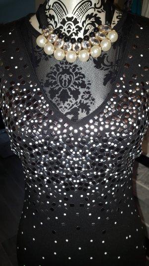 Kleid von Bodyflirt Gr. 32/34 *Nieten*