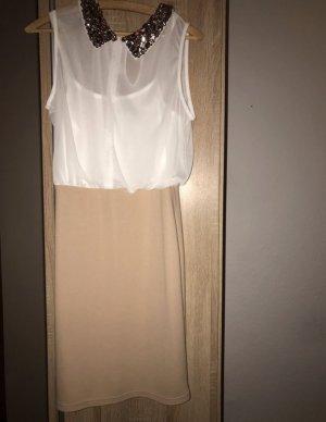 b.p.c. Bonprix Collection Vestido de noche blanco-nude