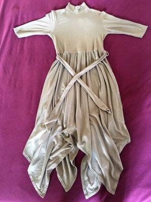 Kleid von Boohoo UK mit Zipfelsaum zum Binden in Khaki *XS/S*