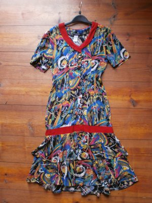 Kleid von Chloe des Iles Creation, vintage, 100% Seide, fabriqué en France