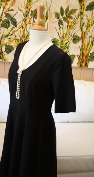 Comma Cut Out Dress black mixture fibre