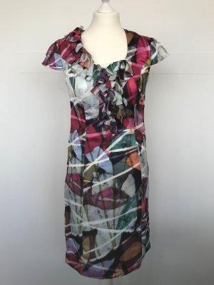 Kleid von comma vorne mit Schlaufen im bunten Grafik-Print