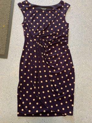 Connected Apparel Vestido elástico violeta amarronado