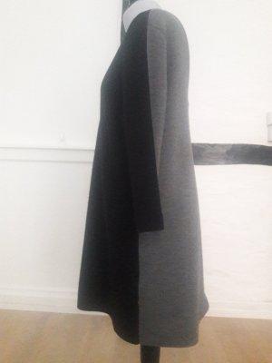COS Wollen jurk zwart-grijs