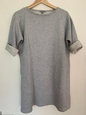 COS Vestido estilo camisa gris claro