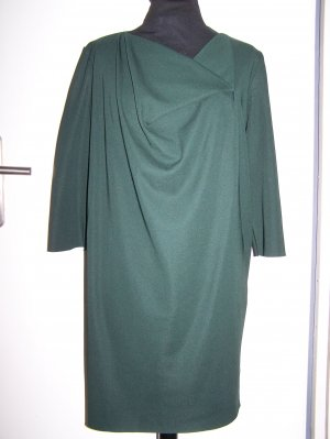 COS Midi Dress forest green viscose