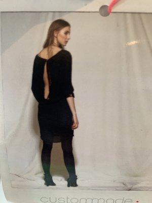 Custommade Sequin Dress black silk