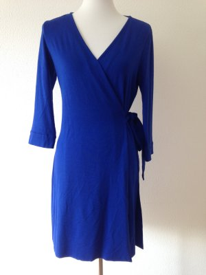 Diane von Furstenberg Vestido cruzado azul Viscosa