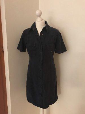 Dismero Denim Dress dark blue lyocell