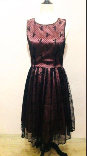 Petticoat Dress black-purple polyester