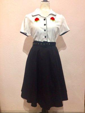 Petticoat Dress white-black cotton
