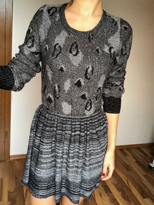 Kleid von Dress Gallery Langarm Leoprint Gr. S