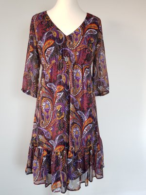 Esprit Midi Dress orange-lilac
