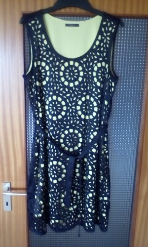 Esprit Cut Out Dress black-yellow polyester