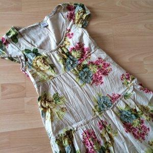 Kleid von Esprit beige mit Blumen 34 wie neu