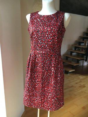 Kleid von Esprit rot gemustert hellblau schwarz Businesskleid