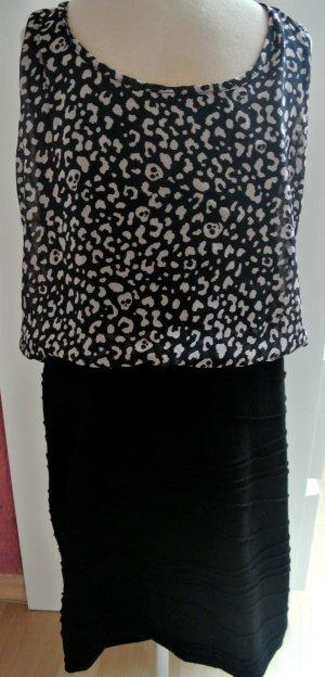 Kleid von Fishbone Größe 36, Schwarz/Beige