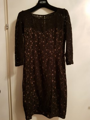 Guess Lace Dress black-nude