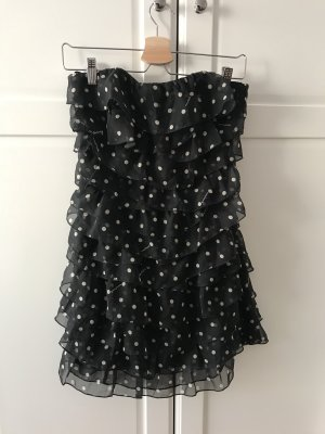 Guess Jeans Bustier Dress black-white