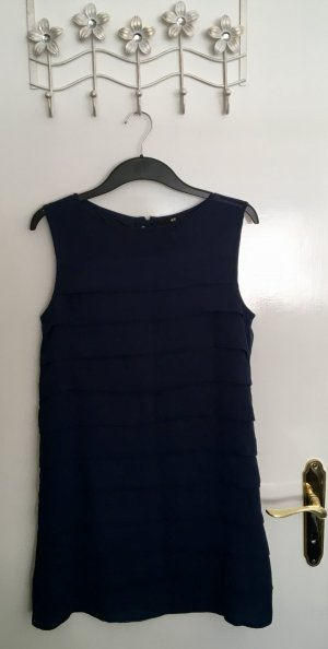 H&M Flounce Dress dark blue polyester