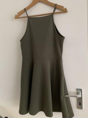 H&M Strandjurk groen-grijs Polyester