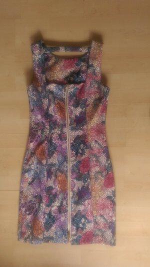 Kleid von H&M bunt gemustert mit Reißverschluss