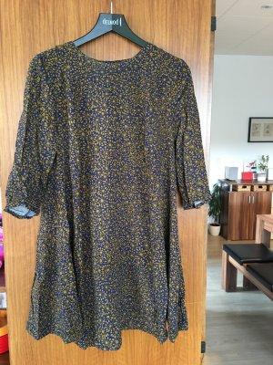 Kleid von H&M Gr. 44 blau Senf gelb