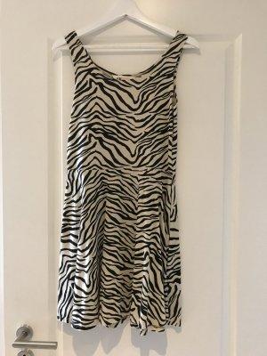 H&M Vestido de tela de sudadera blanco puro-negro
